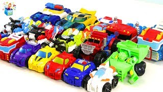 transformer rescue bots Learning Color disney cars Play toys video for kids