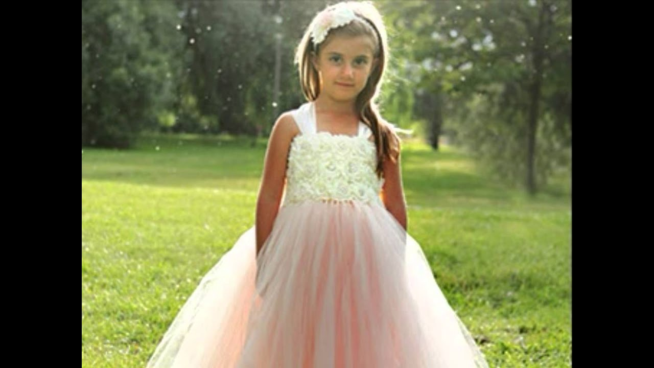 Best Fashion For Kids Flower Dresses Birtday Wedding Party