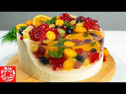 Торт с желе с фруктами рецепт с фото пошагово в домашних условиях