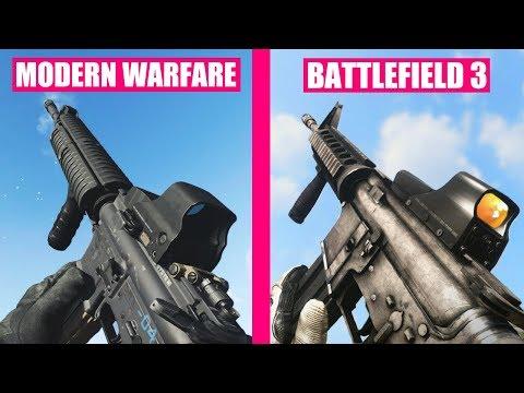 Modern Warfare 2019 vs Battlefield 3 Weapons Comparison |