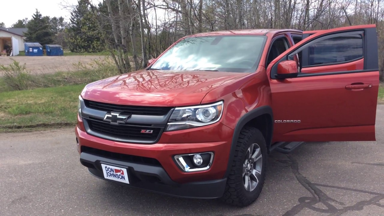 2015 chevrolet colorado z71 crew cab red h17181a youtube for Don johnson hayward motors