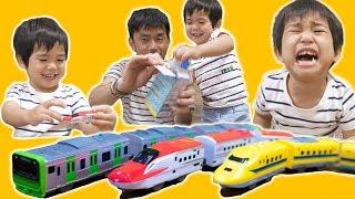 泣いたり笑ったり新幹線に大興奮の銀太 つなごうプラレール thumbnail