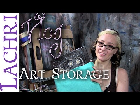 Storing your artwork safely w/ Lachri