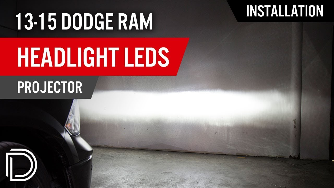 How To Install 2013 2015 Dodge Ram Headlight Leds Projector Seat Wiring Harness Diode Dynamics