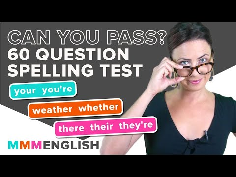 LISTENING & SPELLING Test!   Can YOU pass?   Common English Words That Sound The Same