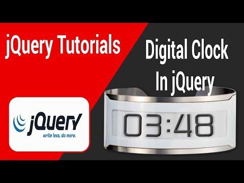 Digital Clock In jQuery In Tamil
