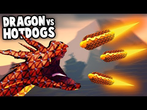 Epic DRAGON BATTLE using Hot Dog Cannons!?  (Forts Multiplayer Gameplay)