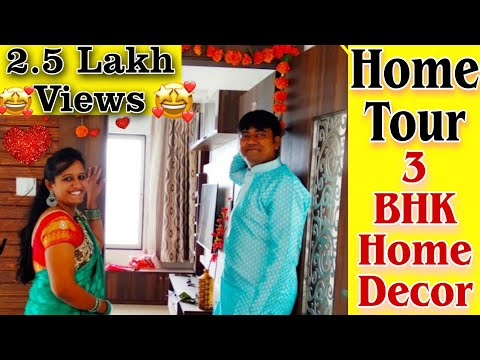 My home tour | New House | 3bhk flat | Indian House Home Decor