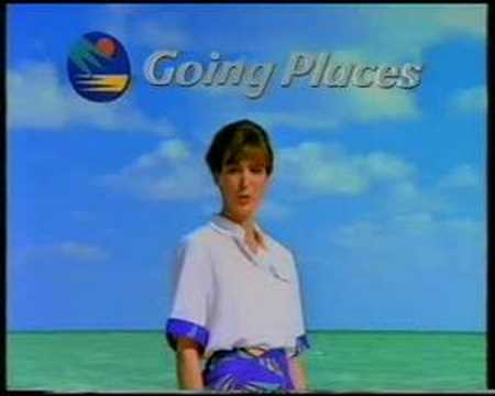 Going Places (travel agent) advert Xmas 1993