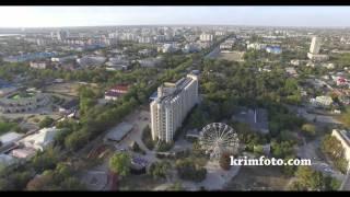 Евпатория курзал курортная зона Крым часть 1 с высоты птичьего полета