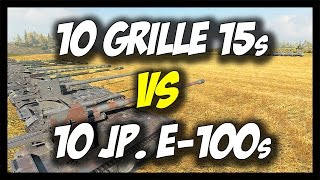 ► World of Tanks: 10 Grille 15s vs 10 JagdPanzer E-100s - BOOM! - Face Off #13