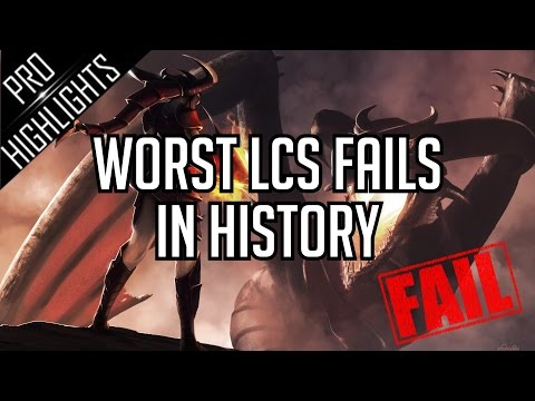 Worst LCS Fails in League of Legends History !