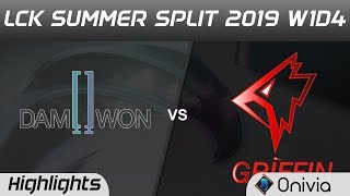DWG vs GRF Highlights Game 2 LCK Summer 2019 W1D4 Damwon Gamming vs Griffin LCK Highlights by Onivia