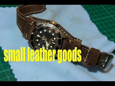 Making A Leather Bund Watch Strap For Tudor Black Bay Leathercraft