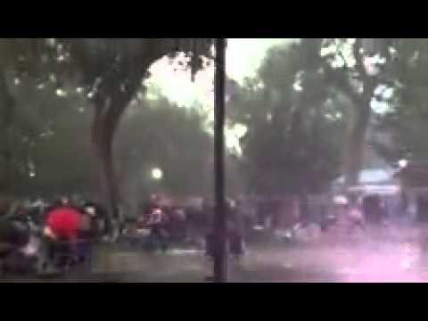 Thunderstorm hits ABQ Biopark Zoo