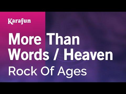 Karaoke More Than Words / Heaven - Rock Of Ages *