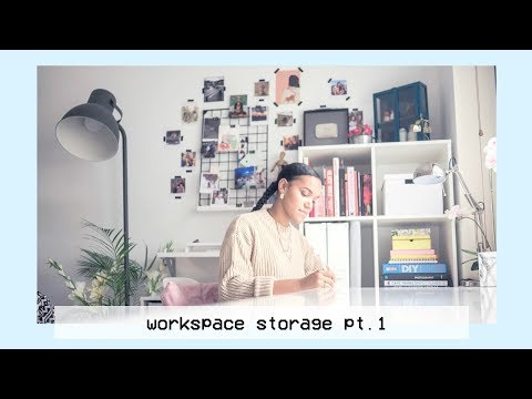 New Desk Storage and Stationery · Workspace Organisation Pt. 1 · Shelves