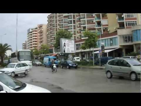 Vlora City - South of Albania Europe, walking in downtown