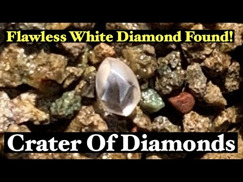 I Found A .12 Flawless Diamond - Mining Crater Of Diamonds - October 2019
