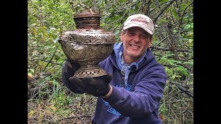 Metal detecting a lost gold rush camp in Alaska