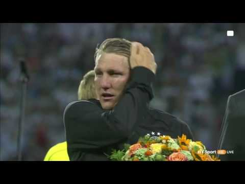 Bastian Schweinsteiger's farewell speech - Last game of Basti with Germany