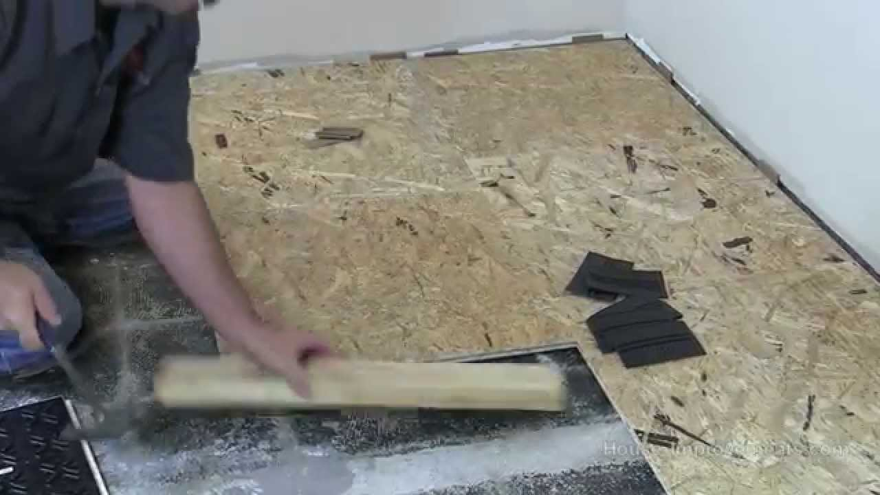 How To Install Basment Subfloor Tile System Youtube