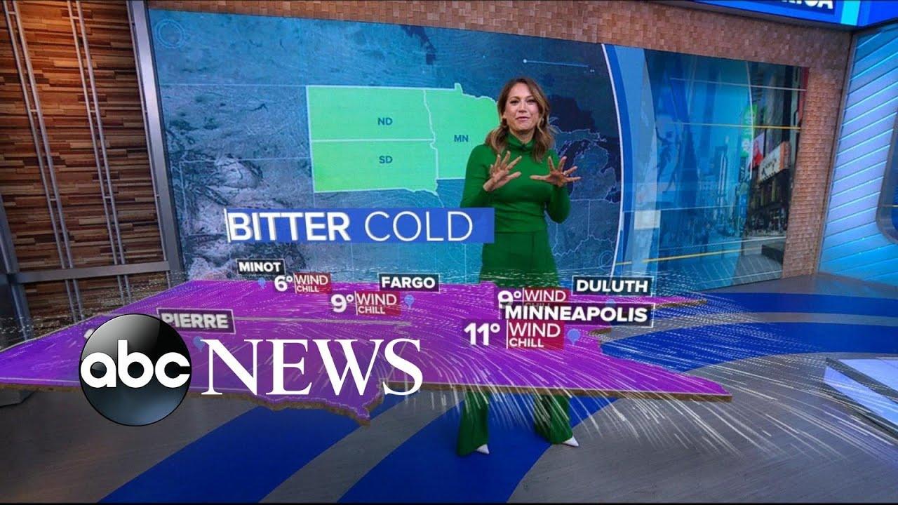 (MINNEAPOLIS - November 2019) Arctic blast prompts winter weather advisory in 6 states l ABC News