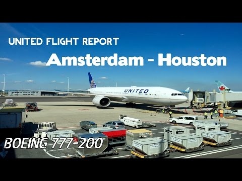 United Airlines flight report | Boeing 777-200 | Amsterdam - Houston