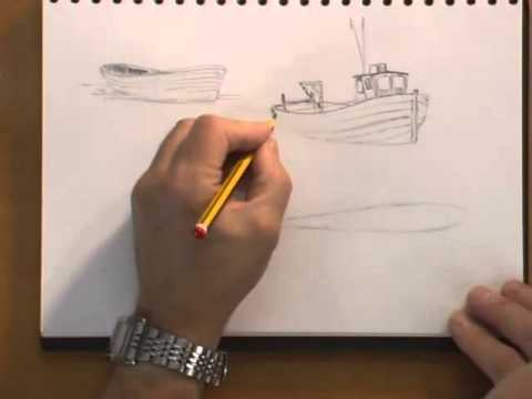 Watercolour Water Lesson - Figure of 8 Boats (Part 1)