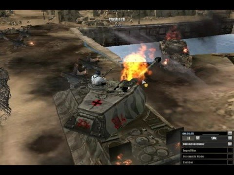 Company Of Heroes King Tiger In Action Youtube