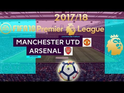 FIFA 18 Manchester United vs Arsenal | Premier League 2017/18 | PS4 Full Match