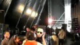 Lenny Kravitz backstage at V Festival 2008 (1)