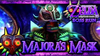 The Legend of Zelda: Majora's Mask 3D Boss Run - FINAL Boss - Majora's Mask Battle