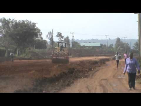 Kogelo Tourism road under construction in Kenya