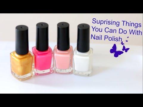 9 Creative Nail Polish Life Hacks || Fun Things || Nail Polish Craft ...