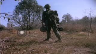 US soldiers of the 1st infantry division capture Viet Cong munitions  during Oper...HD Stock Footage