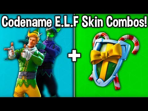 "20 BEST ""CODENAME E.L.F."" SKIN + BACKBLING COMBOS! (Fortnite Minty Elf Combos)"