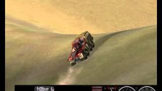 Rigs of Rods [gameplay PC] - Tatra-T813 8x8 DAKAR. Crash 3