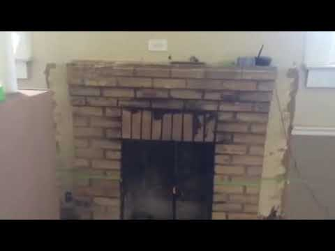 Soot Cleanup Brick Fireplace - YouTube