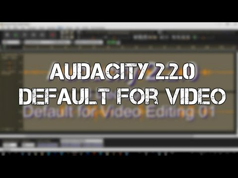 Audacity Audio Editor 2.2.0 as Default for Video Editing 01