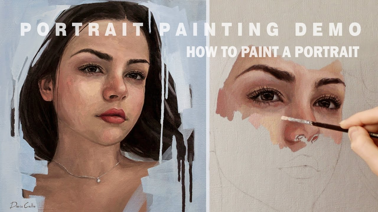 Portrait Painting Demo Oil Painting Time Lapse Youtube
