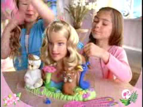2007 Barbie As The Island Princess Styling Head Commercial