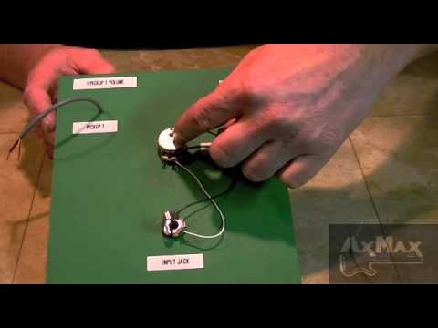 Wiring Electric Guitar - 1 Pickup 1 Volume 1 Input Jack - YouTube