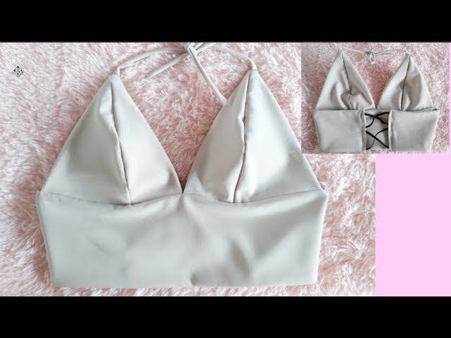 DIY Triangle bralette top EASY - clipzui.com