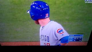 CUBS VS DODGERS PLAYOFF 10 - 2 CUBS SCORE