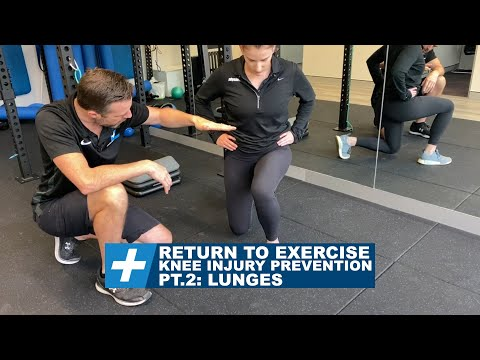 Knee pain and injury prevention when returning to exercise Pt.2 Lunges | Tim Keeley | Physio REHAB