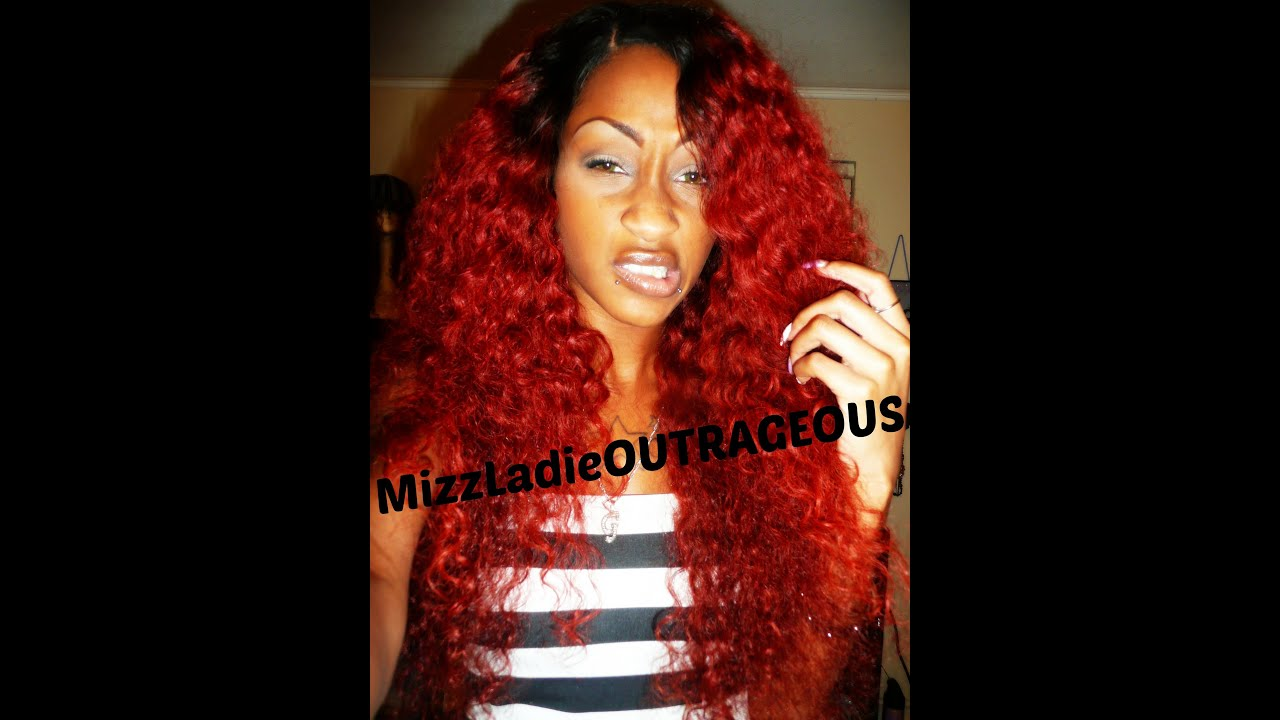 styling my k michelle inspired red wig glam angels hair youtube k
