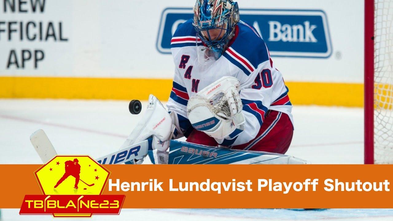 Henrik Lundqvist 10th Career Playoff Shutout