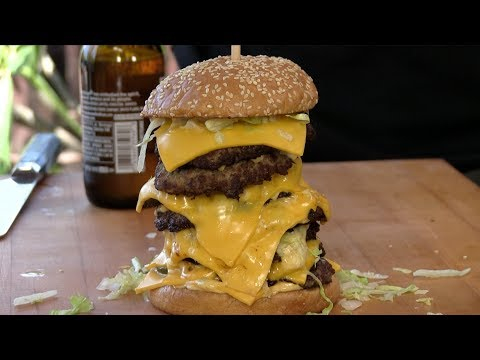 OctoMac Cheeseburger aka The Corporate Giant Burger!