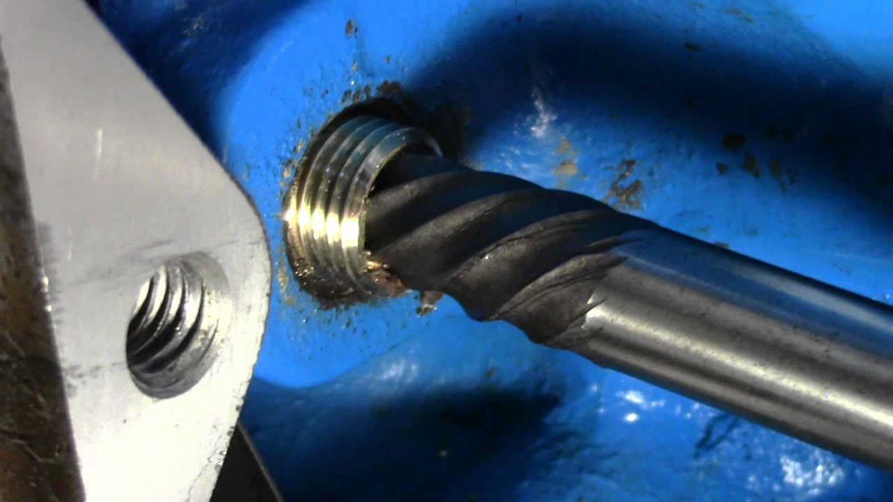How to use a screw extractor remove snapped off bolt